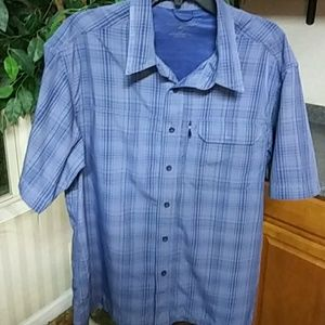 Eddie Bauer Button Down Dress Shirt EUC